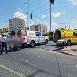 רוכב אופניים חשמליים שנפגע מאוטובוס בבת ים