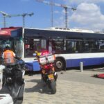 תאונה עם משאית ואוטובוס