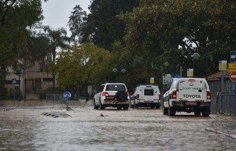 היערכות משטרת ישראל לקראת מזג האויר הסוער והמלצות
