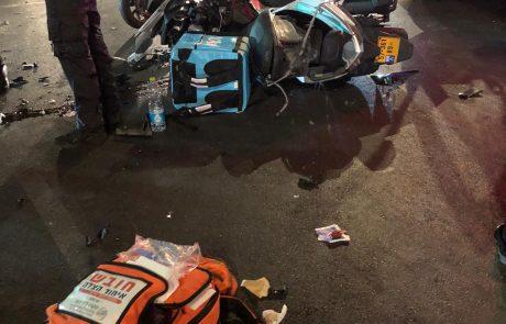 רוכב אופנוע נפצע בינוני בתאונה בבת ים
