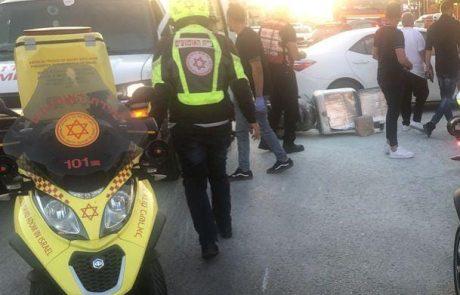 תאונה קשה ברחוב האצל בראשון לציון