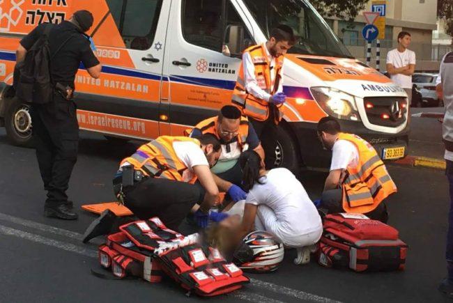 פצוע בינוני בתאונה ראשון לציון