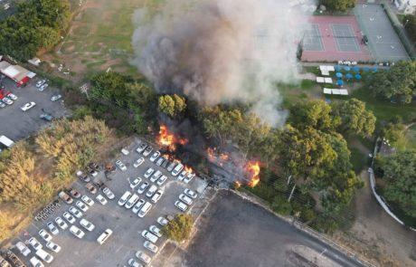 לא תאמינו מה הייתה הסיבה לשרפת הענק שפרצה