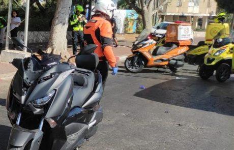 הולך רגל נפגע מאופנוע בבת ים