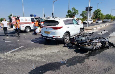 רוכב אופנוע נהרג בתאונה – בנו כבן 7