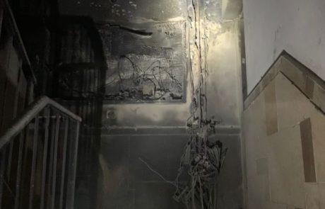 לוחמי האש חילצו 11 דיירים מבניין בו פרצה