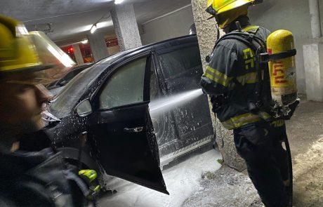 בשרפה שפרצה אתמול בערב נשרף רכב ונמנע אסון