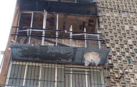 כשל חשמלי הביא לשרפה בדירה