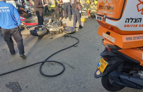 תאונה קשה ברחוב הלוחמים