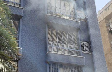 שריפת ארון חשמל בבניין מגורים