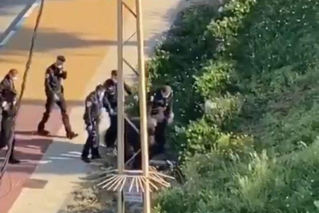 צפו בסרטון:תקף שוטרים לאחר שהפר את הנחיות משרד