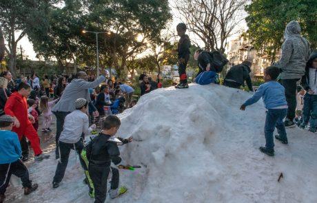 השלג מגיע לראשון לציון