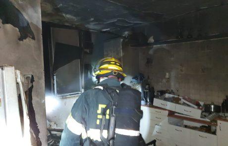 צפו בשרפה ברחוב אבשלום בראשון לציון