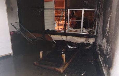 שריפה בדירה ברחוב הרצל בראשון לציון