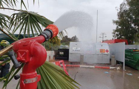 דליפת גז מצובר בתחנת דלק בראשון לציון.