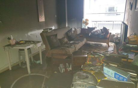 שריפה בדירת מגורים ברחוב הנביאים בבת-ים