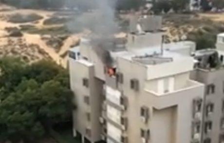 צפו-כעת שרפה בדירה ברחוב דוד צדוק בחולון