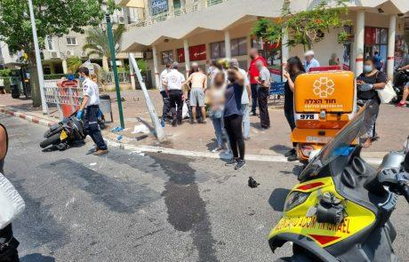 תאונה ברחוב בלפור בבת ים